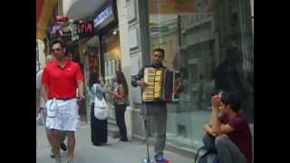 Beyoglu Turkey  city photos gallery : Man Laments with Accordion - Beyoglu District, Istanbul, Turkey