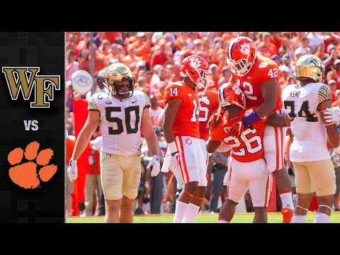 Wake Forest vs. Clemson Football Highlights (2017) (видео)