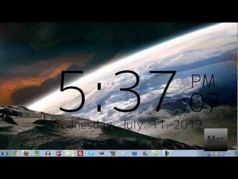 заставка часы на рабочий стол windows xp № 175081 загрузить