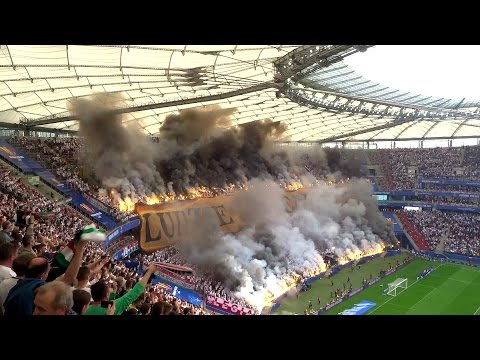 Polish Soccer Fans Love Burning stuff
