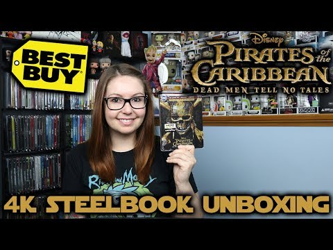 Pirates Of The Caribbean: Dead Men Tell No Tales Best Buy Exclusive 4K Steelbook Unboxing
