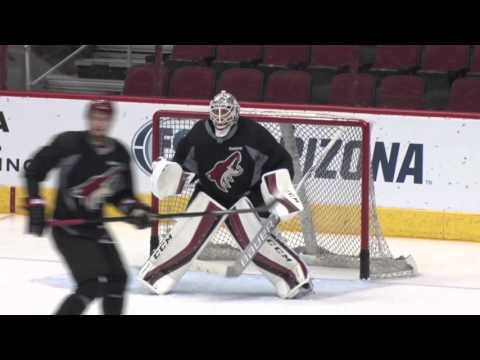 Goaltender Louis Domingue Rookie of the Month