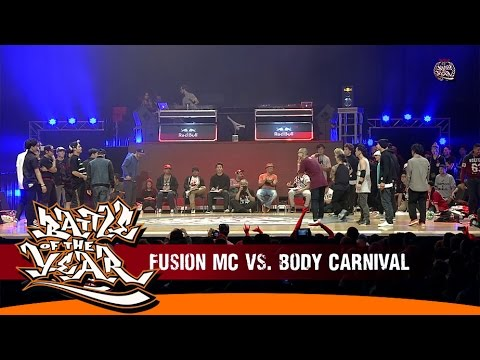 korea - INTERNATIONAL BATTLE OF THE YEAR 2014 - SEMIFINAL #2 - FUSION MC (KOREA) VS BODY CARNIVAL (JAPAN) The Battle Of The Year has come a long way. Who would have thought that ...
