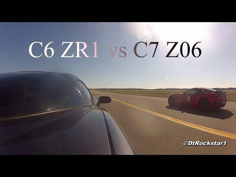 c6 zr1 vs c7 z06 | corvette 1/2 mile drag race