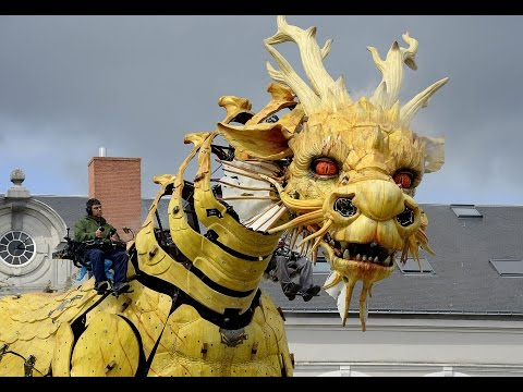 A Giant Mechanical Horse Dragon in France