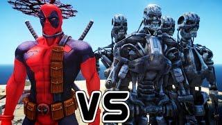 deadpool vs terminator army  epic battle