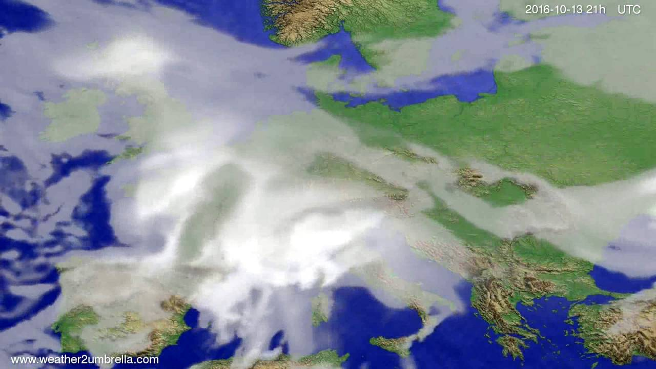 Cloud forecast Europe 2016-10-10