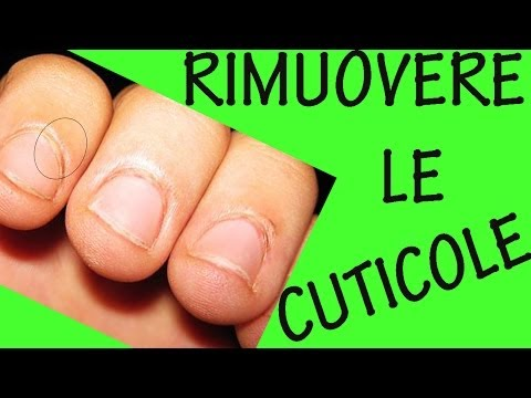COME RIMUOVERE LE CUTICOLE! Sos unghie #9