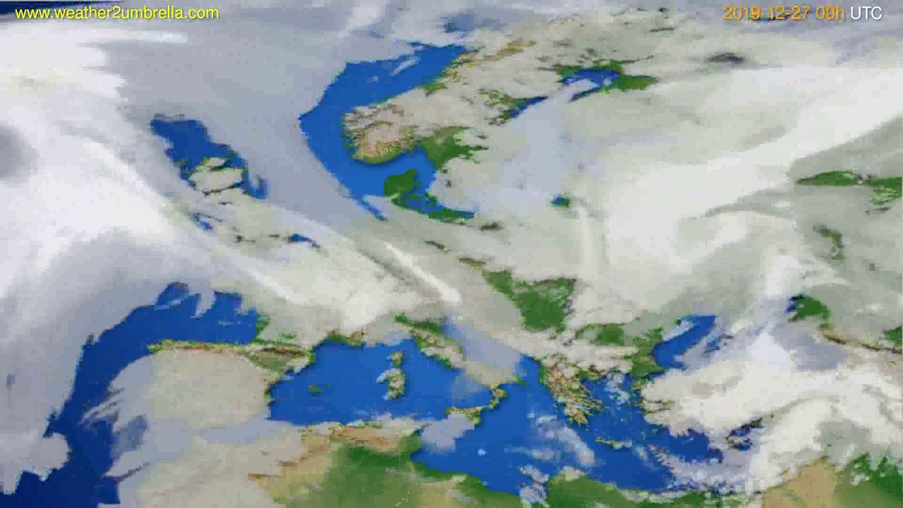 Cloud forecast Europe // modelrun: 00h UTC 2019-12-26