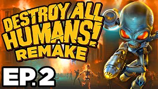 •️ • •️ RADIOACTIVE COWS, MIND CONTROL!!! - Destroy All Humans! Remake Ep.2 (Gameplay / Let's Play)