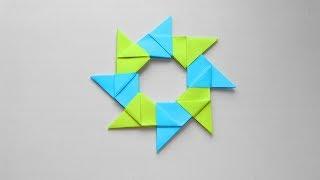 Оригами звезда из бумаги. Модульное оригами