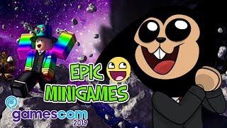 ¡MINIJUEGOS DE ROBLOX DESDE LA GAMESCOM! - EPIC MINIGAMES