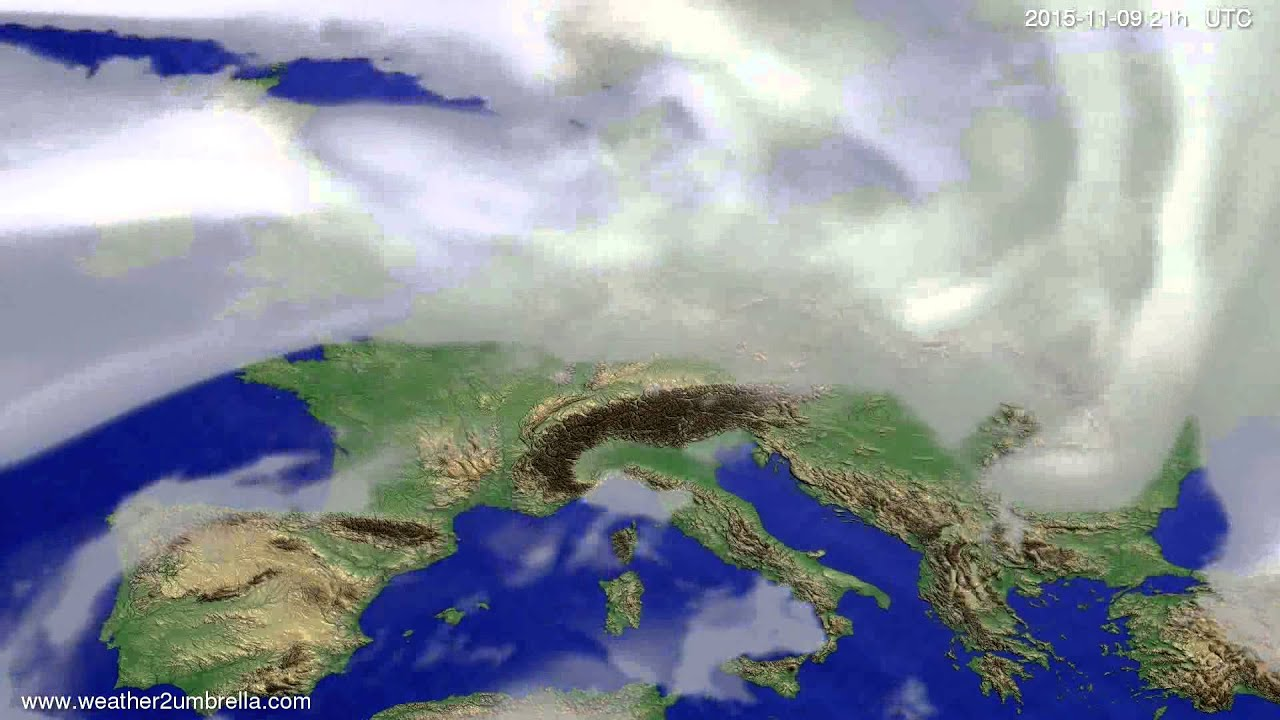 Cloud forecast Europe 2015-11-06