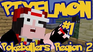 Minecraft Pixelmon: Pokeballers Server Region 2 - Episode 1 - THE ADVENTURE BEGINS!!