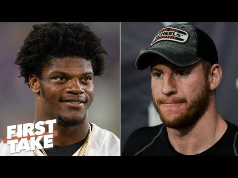 Video: Is Lamar Jackson more important for the Ravens than Carson Wentz is for the Eagles? | First Take