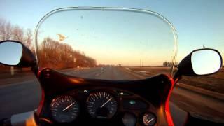 10. Riding Suzuki Katana 600
