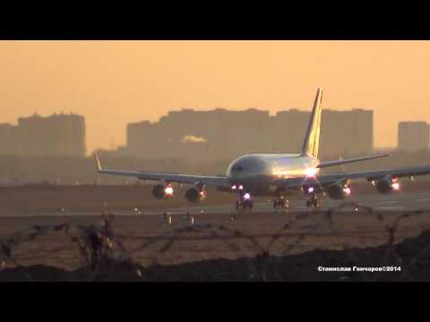 ИЛ-96-300 RA-96008 Последний рейс SU-2131 из Стамбула.29.03.2014 (видео)