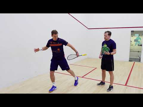 Squash tips: Volleying with Nick Matthew - Size of swing