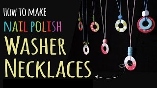 How to Make Washer Necklaces | Kids Crafts | DIY Jewelry