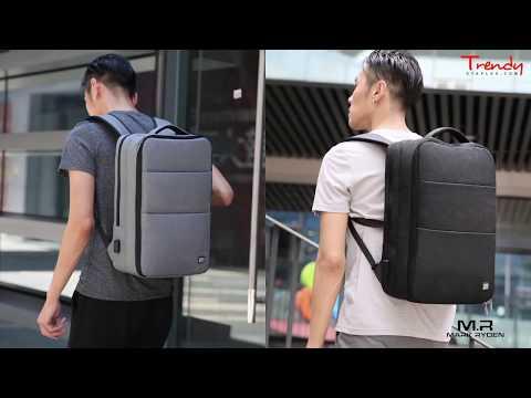Mark Ryden Messenger Urban Series Water-Resistant Laptop Backpack + USB Charging Port