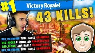 OUR HIGHEST RECORD KILL DUOS WINS! (43 KILLS!) ft. Randumb