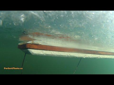 установка рыболовной сети с лодки видео