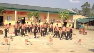 một buổi tập luyện của các Chiến sỹ CSCĐ Bộ Công an