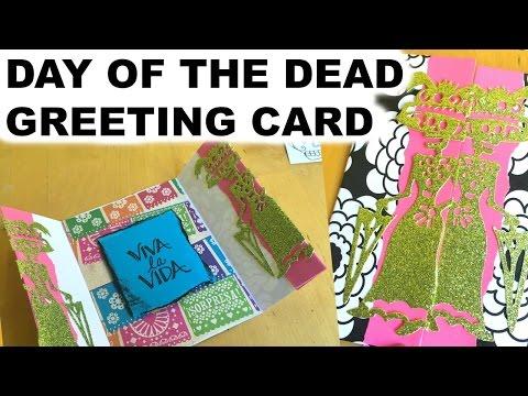 Day of the Dead Greeting Card || Dia de Los Muertos