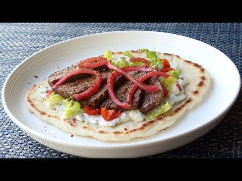 American Gyros - How to Make a Gyros Sandwich - Lamb & Beef
