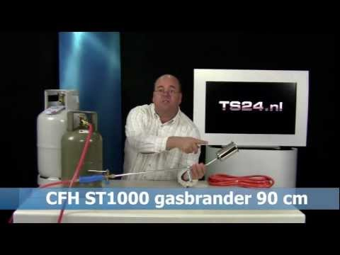 Web-Video gasbrander CFH ST1000 met Product-Review Presentator Rene Kogelman