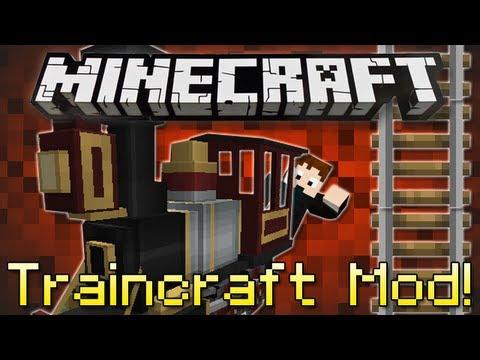 Minecraft | TRAINCRAFT MOD! | Realistic Trains in Minecraft! [1.4.7]