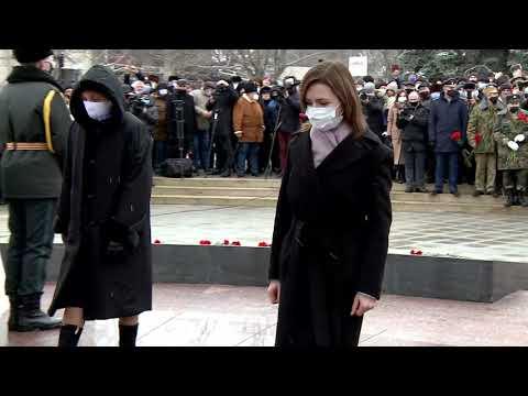 Președintele Maia Sandu a participat la manifestările consacrate Zilei comemorării celor căzuți în războiul din Afganistan
