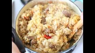 Cómo hacer arroz con carne