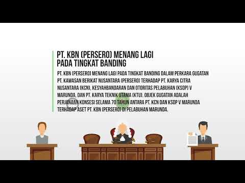 PT KBN (Persero) Menang Lagi pada Tingkat Banding Melawan KCN