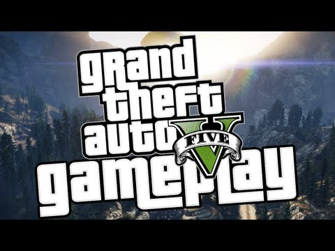 GTA 5 OFFICIAL GAMEPLAY!