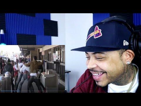 6ix9ine Fight At L.A. Airport (видео)
