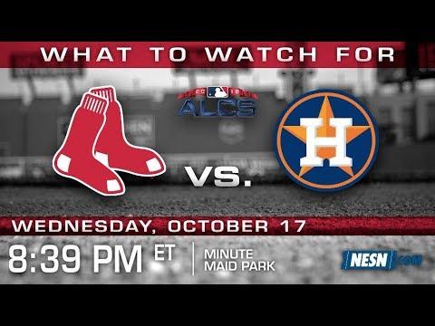 Video: Red Sox vs. Astros ALCS Game 4 Preview: Porcello vs. Morton