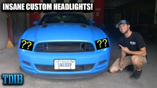 Installing the CRAZIEST Custom Headlights EVER For My 2013 Mustang GT! by That Dude in Blue