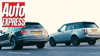 Bentley Bentayga vs Range Rover SVAutobiography: 1,103bhp über SUV drag race by Auto Express