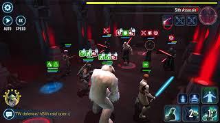 Heroic Sith Raid P2 Boba Lead Sabine GK Wampa and Hermit Yoda 2 million