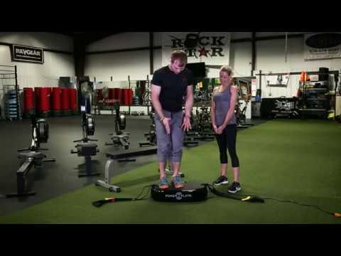Power Plate training with Lisa Varga, Split Squat