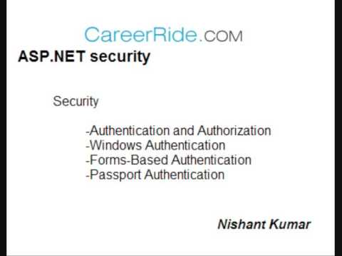 ASP.NET Security tutorial
