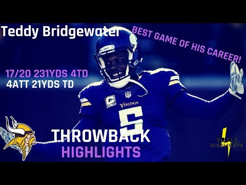 The Best Game Of Teddy Bridgewater Career | Throwback Highlights 12.20.2015