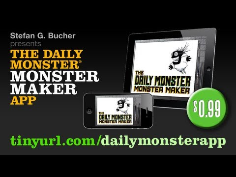daily app - http://tinyurl.com/dailymonsterapp -- $0.99 -- A brief demo of the new Daily Monster® Monster Maker App for the iPhone, iPad, and iPod Touch, showing off its...