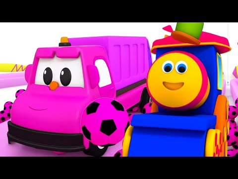 bob den zug | Farben mit Fußbällen | Kindervideo | Bob Fun Series | Learn colors With Soccer Ball