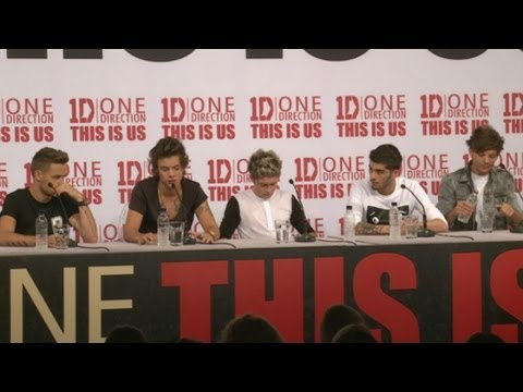 One Direction This Is Us press conference: Part 1