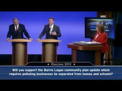 KPBS - Congressman Bob Filner and City Councilman Carl DeMaio squared off in a mayoral debate at KPBS on Oct. 1, 2012.