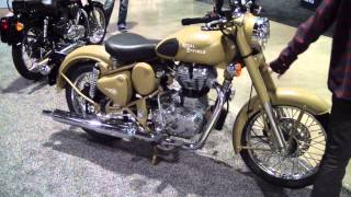 7. Royal Enfield Desert Storm Classic Bullet 500 Motorcycle