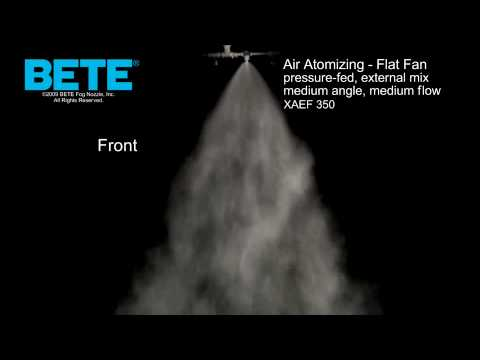 XAEF 350 - Air Atomizing Flat Fan Spray Pattern Video
