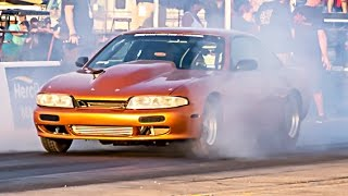TURBO LSx Nissan 240sx vs Outlaw Armageddon NO PREP! by 1320Video